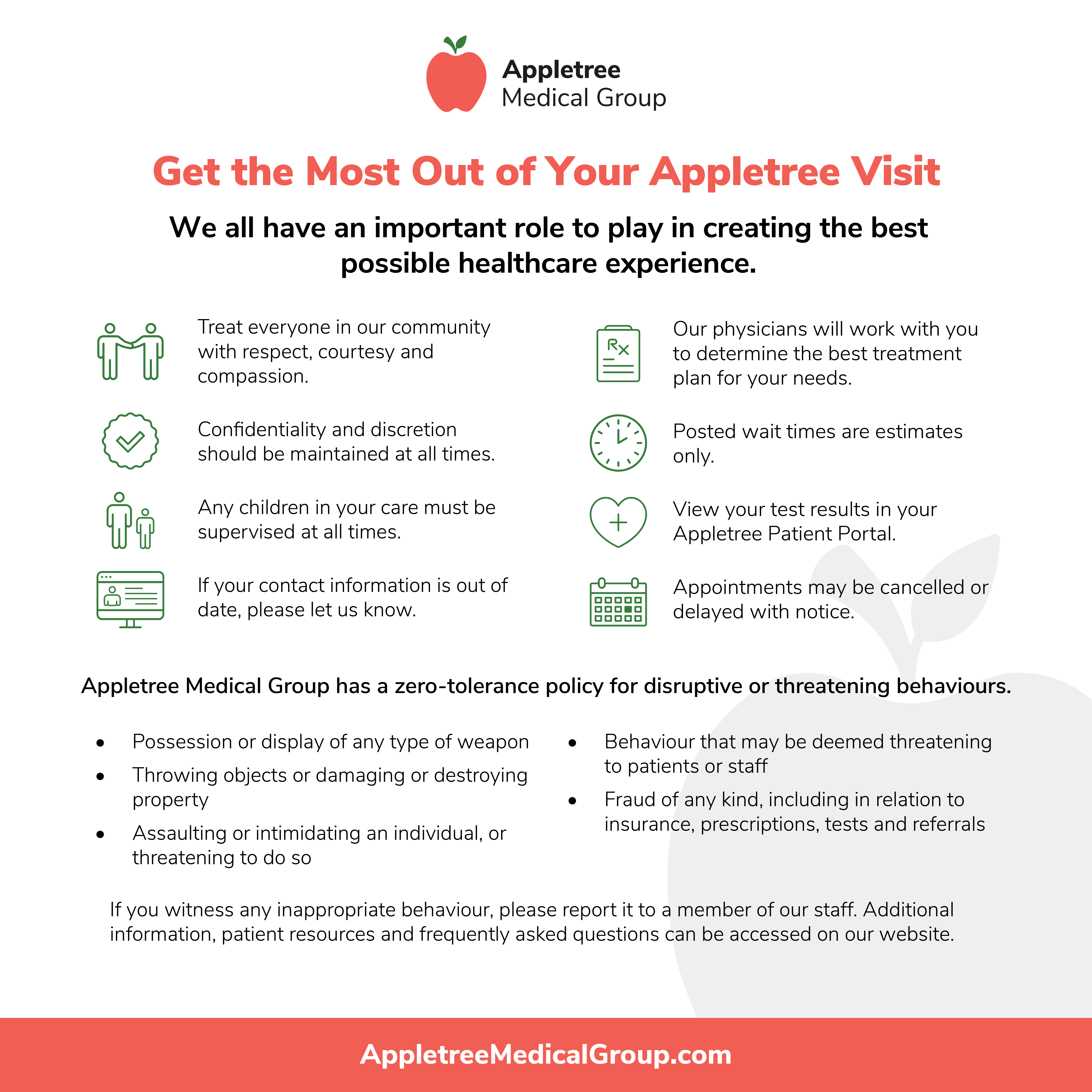 Appletree Code of Conduct Poster 2020