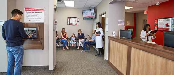 Appletree Clinic waiting room